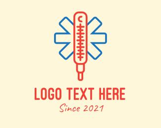 Medic - Medical Thermometer  logo design