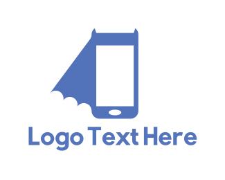 Bat - Bat Phone logo design