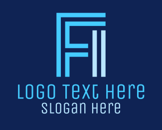 F1 - F & I Monogram logo design