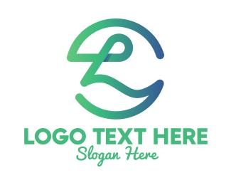 Letter L - Cursive Letter L  logo design
