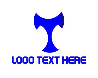 Budget - Blue Letter T logo design