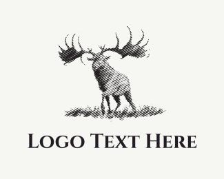 Hunting - Black Moose logo design