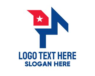 Latin America - Abstract Cuba Flag  logo design
