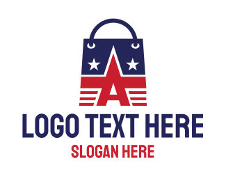 Shopping Bag - American Shopping Bag logo design