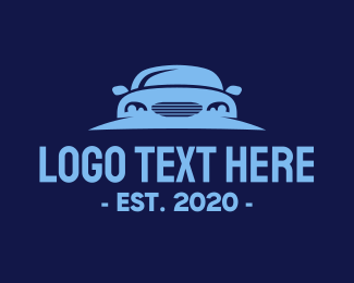 Racing Car - Blue Car Rental logo design