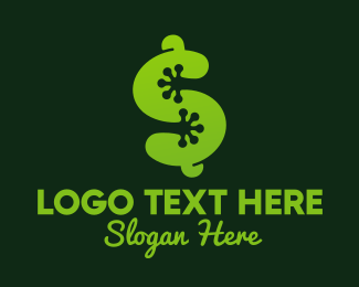 Dollar Sign - Frog Dollar Sign logo design