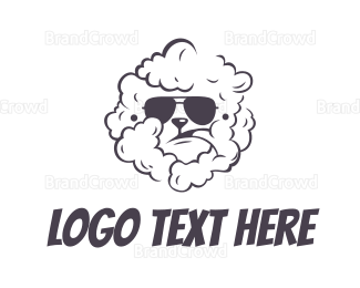 Rock Band - Black Shaded Smoking Dog logo design