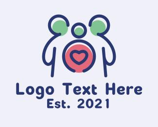 Child - Parent Child Love logo design