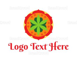 India - India Flower Spa logo design