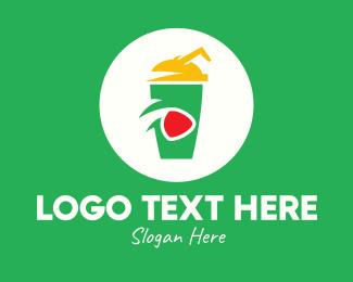 Junk Food - Media Player Drink logo design