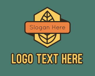 Shield - Leaf Badge Banner logo design