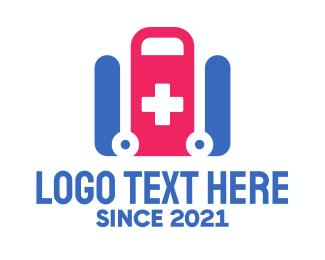 Injury - Medical Paramedic Stretcher  logo design