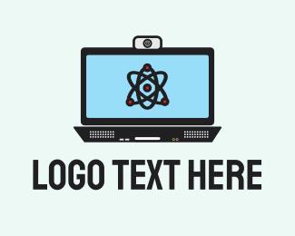 Atom - Atom Computer Monitor logo design