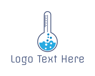 Heat - Blue Lab Thermometer logo design