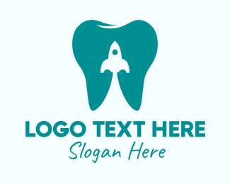 Root Canal - Tooth Rocket Clinic  logo design