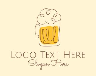 Alcohol - Minimal Beer logo design