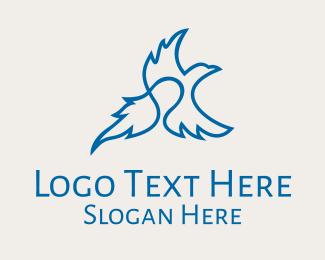 Postal Office - Blue Flying Eagle  logo design