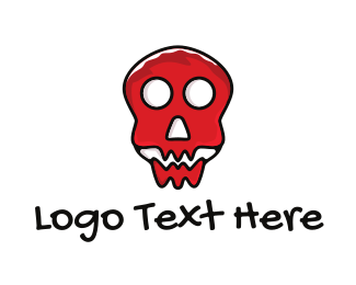 Cranium - Red Skull logo design