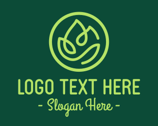 Organic Products - Simple Green Food logo design