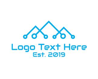 Climbing - Blue Mountain Tech logo design