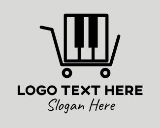 Store - Piano Store logo design