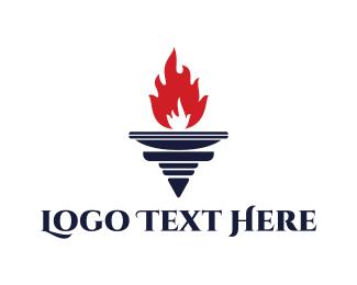 Torch - Red Torch logo design
