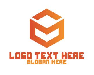 Tagline - Tech Startup Company Shape logo design