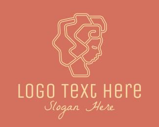 Hairdresser - Minimalist Salon Hairdresser logo design