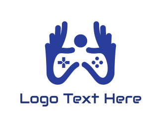 Games - Blue Hand Gaming logo design