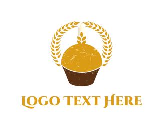 Cupcake -  Wheat Cupcake  logo design
