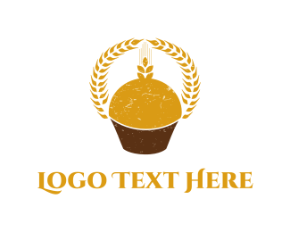 Cupcake -  Wheat Cupcake  logo design