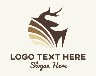 Moose - Deer Shield logo design