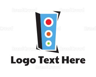 Speaker - Blue Geometric Speaker  logo design