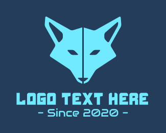 Game Vlogger - Blue Gaming Fox logo design