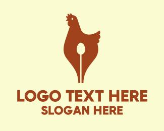 Pen - Hen Pen logo design