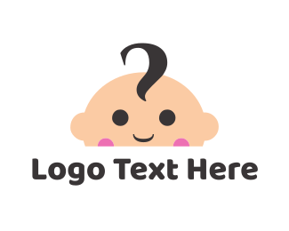 Childrens - Cute Baby Face logo design