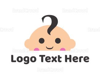 Newborn - Cute Baby Face logo design