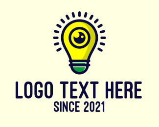 Lens - Light Bulb Lens logo design