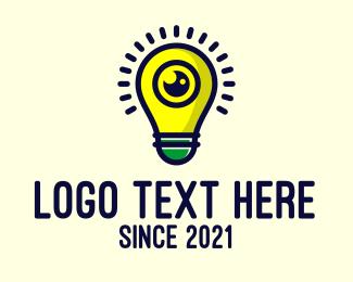 Innovate - Light Bulb Lens logo design