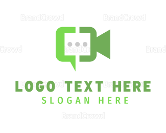 Text Message - Video Chat logo design