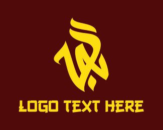 Yellow Fire - Yellow VA Vandal logo design