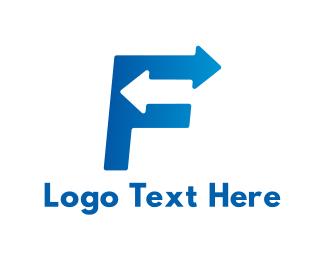 Moving - Fast F logo design