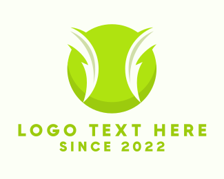 Tennis Coach - Electric Green Tennis Ball logo design