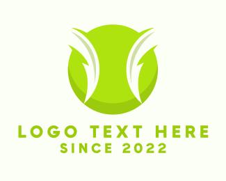 Tennis - Electric Green Tennis Ball logo design