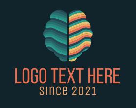 Intelligent - Brain Regeneration Rainbow logo design