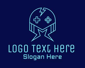 Twitch - Thunder Gaming Helmet logo design