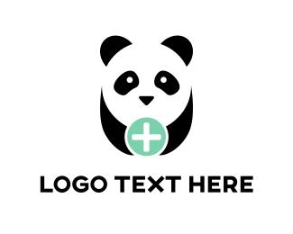 Pharmacy - Panda Plus logo design