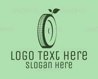 Disposal - Eco Green Tyre logo design