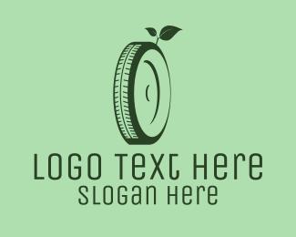 Tyre - Eco Green Tyre logo design