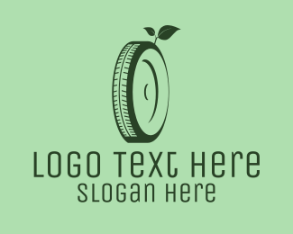 Wheel - Eco Green Tyre logo design